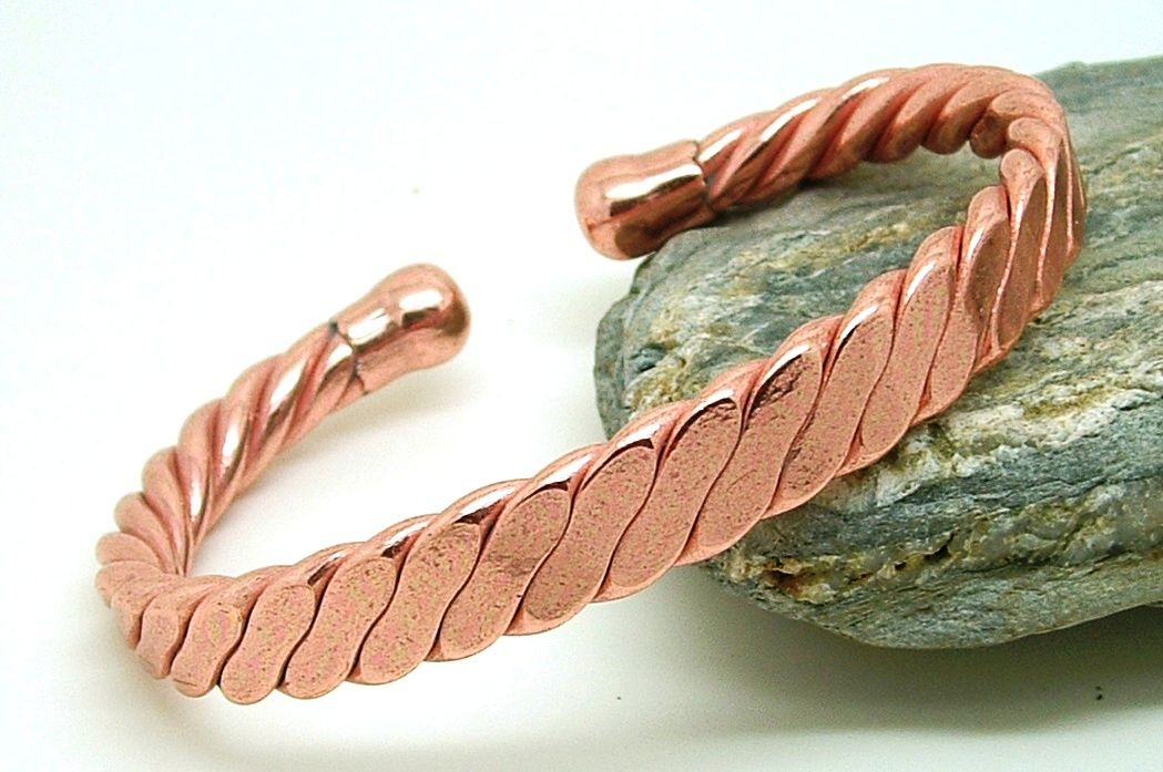 Magnetic Men S Heavy Flattened Copper Bracelet